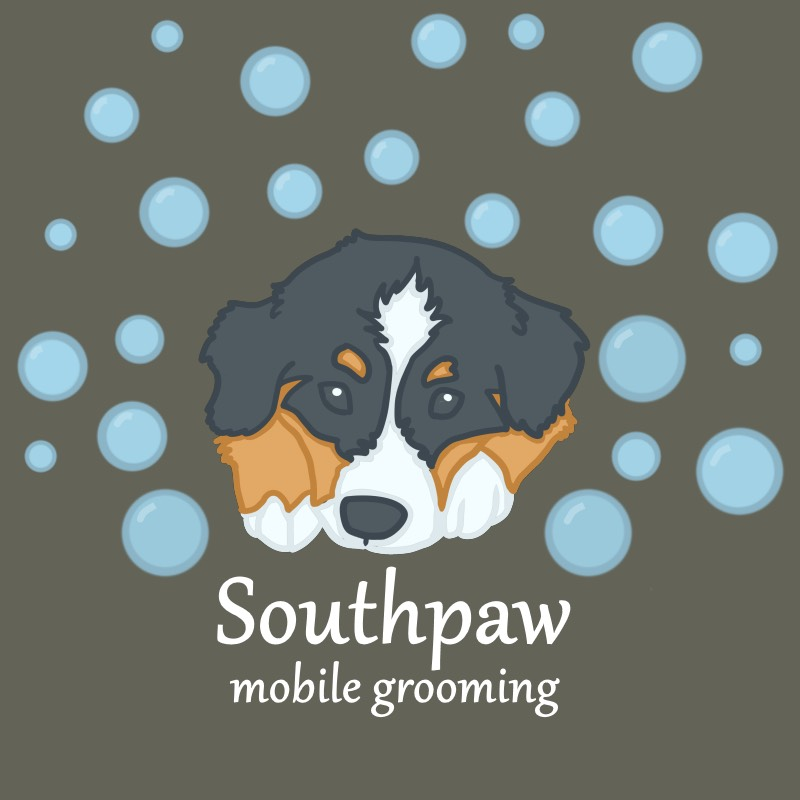 Southpaw Mobile Grooming Logo